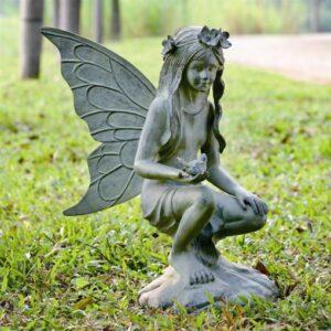 fairy garden kneeling