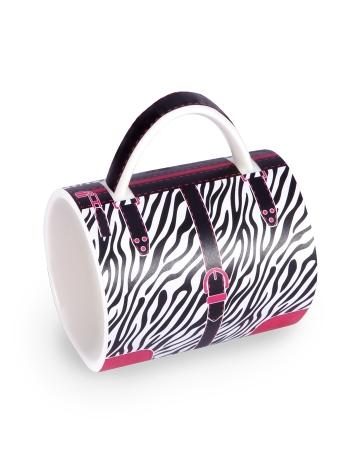 handbag mug-Zebra chic