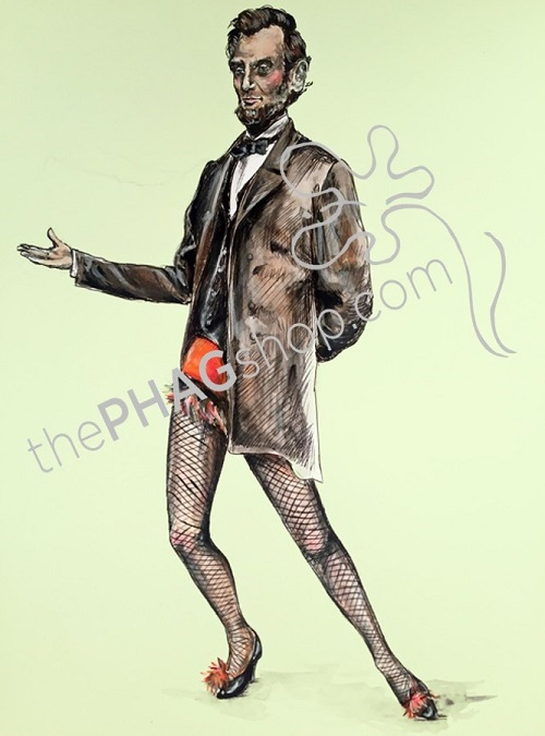 thePHAGshop_Abraham Lincoln Art Print Politics are a Drag- WM