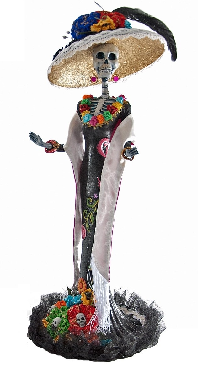 catrina sugar skull doll day of the dead no eating clipart no eating clipart