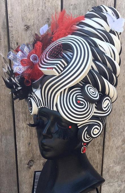thePHAGshop_Custom Foam Wig Licorice Beehive- Black & White