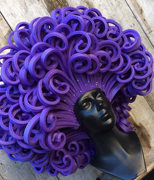thePHAGshop_Foam BIG Diva Wig- Purple