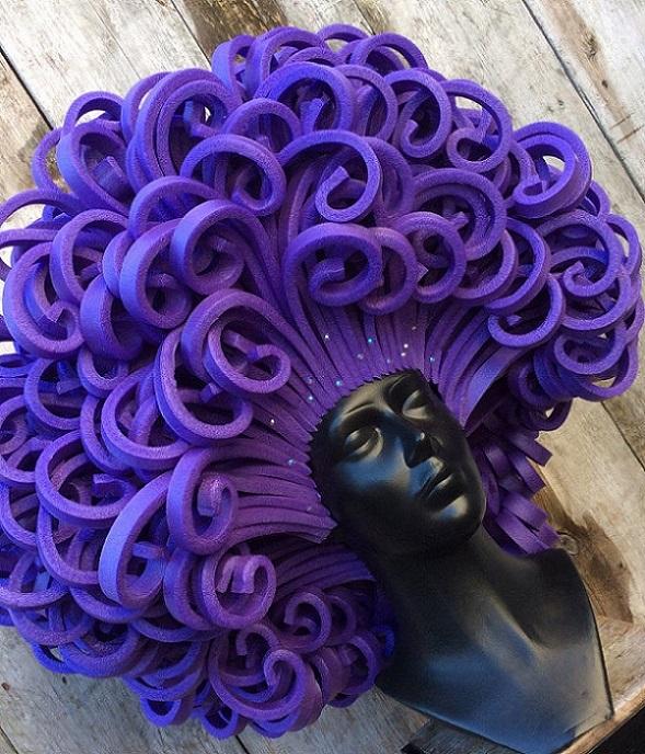 thePHAGshop_Foam BIG Diva Wig- Purple