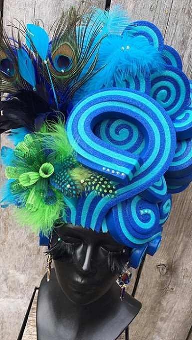 thePHAGshop_Foam Wig Lollipop Bouffant- Peacock