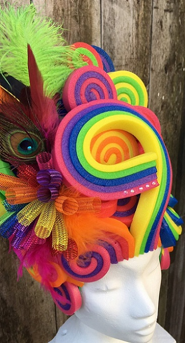 thePHAGshop_Foam Wig Lollipop Bouffant- Rainbow PRIDE