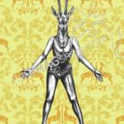 thePHAGshop_Gazelle Art Print Party Animal Pinup- WM