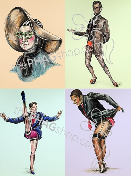 thePHAGshop_LE Politics are a DRAG Politcal Parody Art Print Series WM