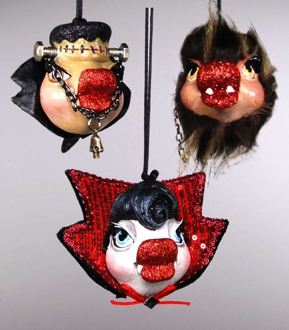 thePHAGshop_Monster Kiss Halloween Fish Ornaments- Asst
