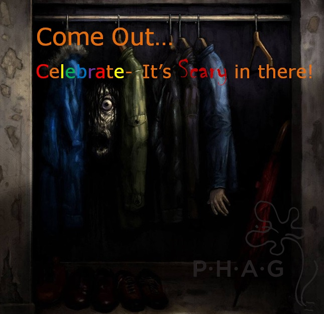 thePHAGshop_National Coming Out Day_Scary Closet