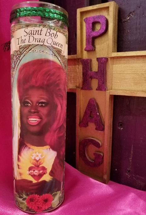thePHAGshop_Saint Bob the Drag Queen Prayer Candle