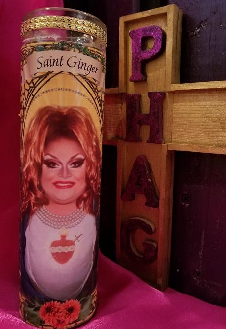 thePHAGshop_Saint Ginger Minj Drag Queen Prayer Candle