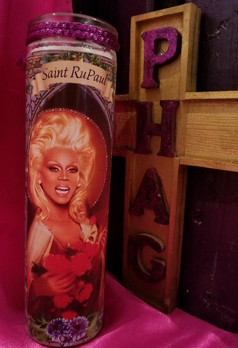 thePHAGshop_Saint Rupaul Drag Queen Prayer Candle