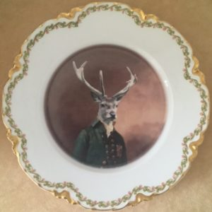 thePHAGshop_Studly Stag Dish- Altered Antique Plate