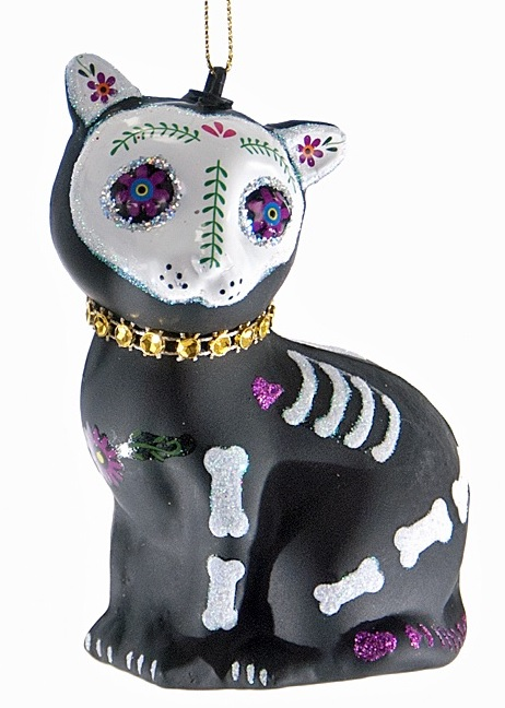 thePHAGshop_Sugar Skull Cat Ornament