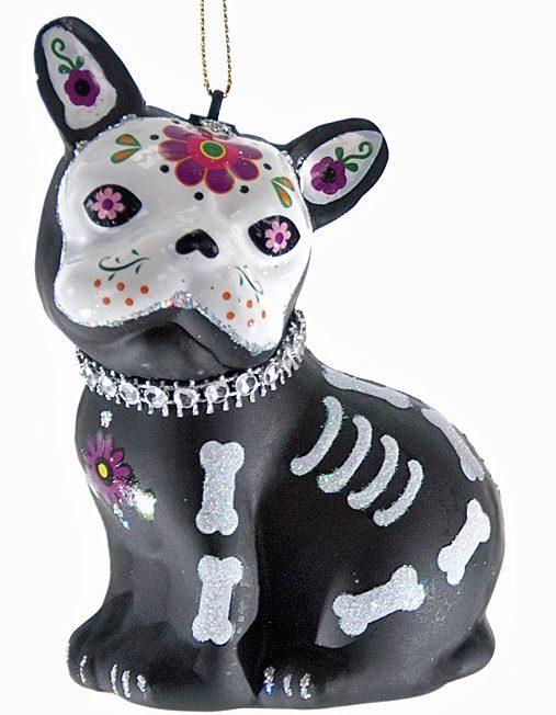sugar skull dog ornament day of the dead