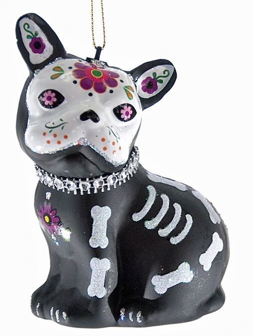 thePHAGshop_Sugar Skull Dog Ornament