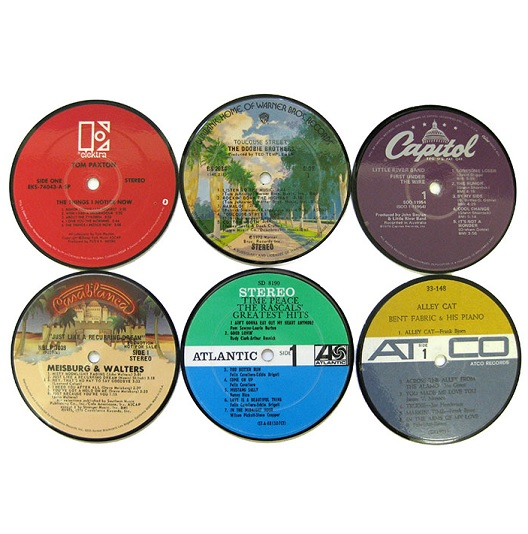 thePHAGshop_Vintage Record Label Coasters- Set 6