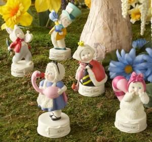 thephagshop_White Rabbit figurine- Alice in Wonderland Snowbabies Ensemble